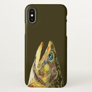 Capa Para iPhone X Cabeça da truta de ribeiro para a pesca com mosca