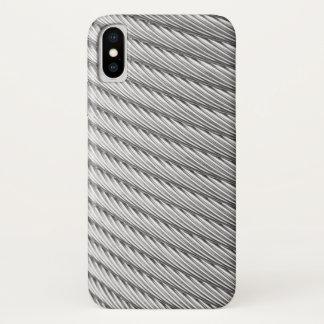 Capa Para iPhone X Cabo trançado do peltre