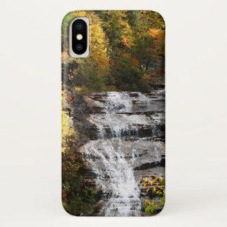 Capa Para iPhone X Cachoeira com caso do iPhone X da folha do outono