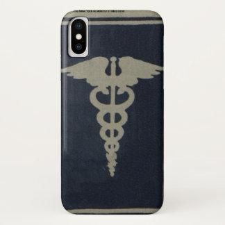 Capa Para iPhone X Caduceus azul