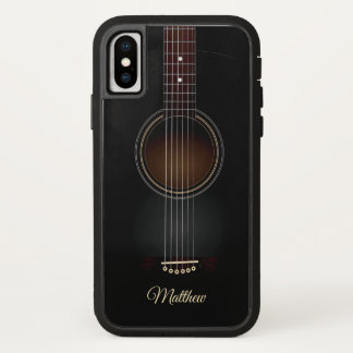 Capa Para iPhone X Caixa acústica preta personalizada do telefone X