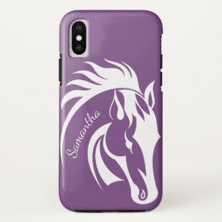 Capa Para iPhone X Caixa bonita do iPhone X do design do cavalo
