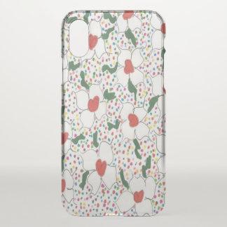 Capa Para iPhone X Caixa clara floral clássica do defletor do iPhone