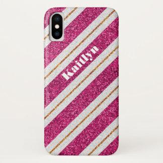 Capa Para iPhone X Caixa cor-de-rosa, branca do iPhone X da case mate