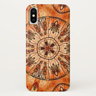 Capa Para iPhone X Caixa da mandala do zodíaco da trindade do cristo