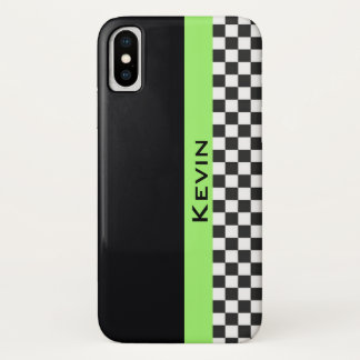 Capa Para iPhone X Caixa de competência verde do iPhone X do design