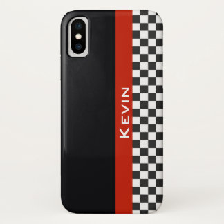 Capa Para iPhone X Caixa de competência vermelha do iPhone X do