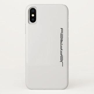 Capa Para iPhone X caixa do iPhone X, branco e preto, personalizada