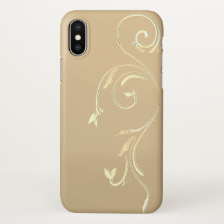 Capa Para iPhone X caixa embellished x do ouro do iphone