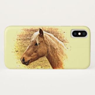 Capa Para iPhone X Caixa ensolarada do iPhone X do cavalo de Brown