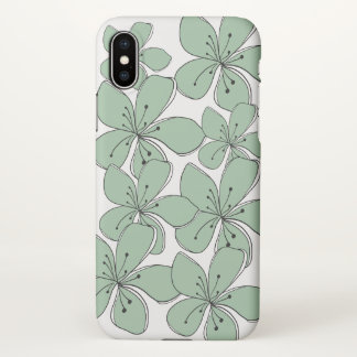 Capa Para iPhone X Caixa floral do resíduo metálico do iPhone X