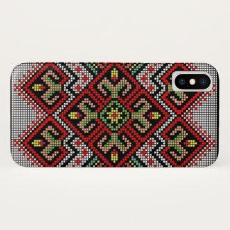 Capa Para iPhone X Caixa geométrica ucraniana da galáxia do iPhone do