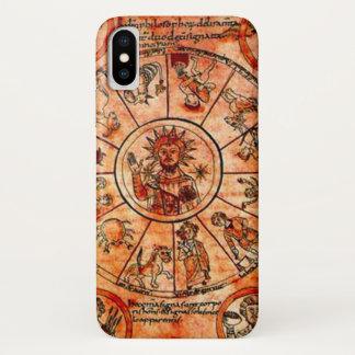 Capa Para iPhone X Caixa medieval do calendário do zodíaco do cristo