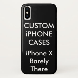 Capa Para iPhone X Caixa personalizada costume do iPhone X mal lá