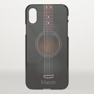 Capa Para iPhone X Caixa preta do iPhone X da música da guitarra