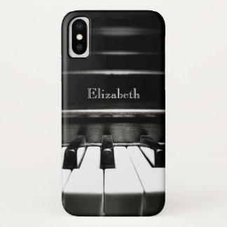 Capa Para iPhone X Caixa preta personalizada do iPhone X do piano