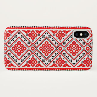 Capa Para iPhone X Caixa vermelha ucraniana da galáxia do iPhone do