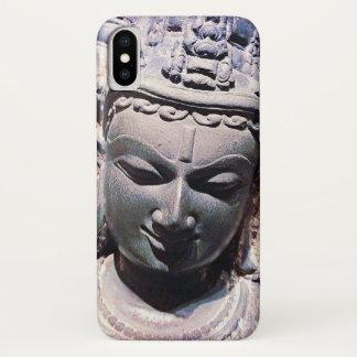 Capa Para iPhone X Calma, foto de pedra asiática do Fim-acima da