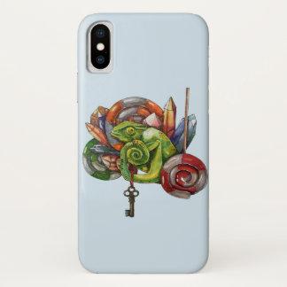 Capa Para iPhone X camaleão e cristais