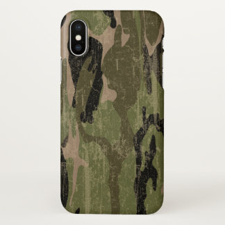 Capa Para iPhone X Camo verde desvanecido