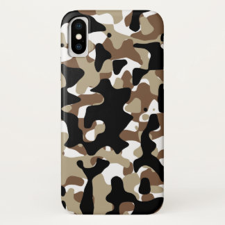 Capa Para iPhone X Camuflagem aberta do terreno da neve