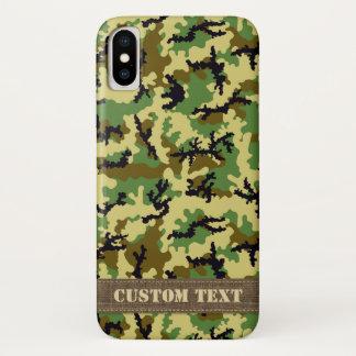 Capa Para iPhone X Camuflagem da floresta