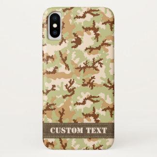 Capa Para iPhone X Camuflagem do deserto