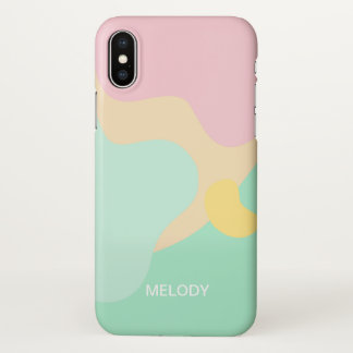 Capa Para iPhone X Camuflagem Pastel abstrata