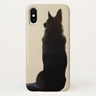 Capa Para iPhone X Cão de german shepherd bonito