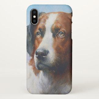 Capa Para iPhone X Cão de St Bernard do vintage