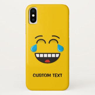Capa Para iPhone X Cara com os rasgos da alegria