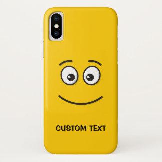 Capa Para iPhone X Cara de sorriso com olhos abertos
