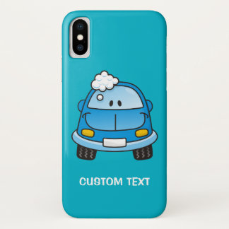 Capa Para iPhone X Carro azul com bolhas