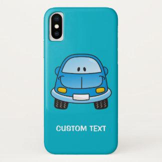 Capa Para iPhone X Carro azul dos desenhos animados