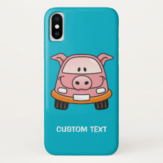 Capa Para iPhone X Carro dos desenhos animados do porco