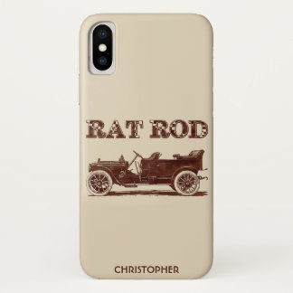Capa Para iPhone X Carro oxidado legal da velha escola retro de Rod