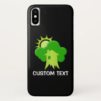 Capa Para iPhone X Casa verde