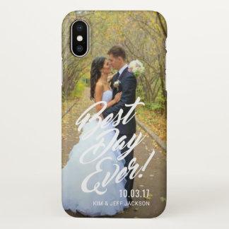 Capa Para iPhone X Casais que Wedding caixa do dia da foto a melhor
