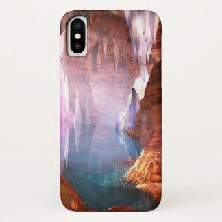 Capa Para iPhone X Case mate de brilho do iPhone das cavernas