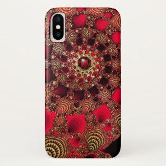 Capa Para iPhone X Case mate do iPhone dos rubis & do ouro