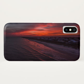 Capa Para iPhone X Caso aéreo do iPhone X do por do sol do SGI
