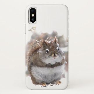 Capa Para iPhone X Caso animal do iPhone X de Brown bonito e do