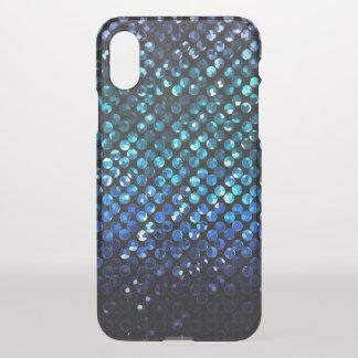 Capa Para iPhone X caso Bling de cristal azul Strass do iPhone X
