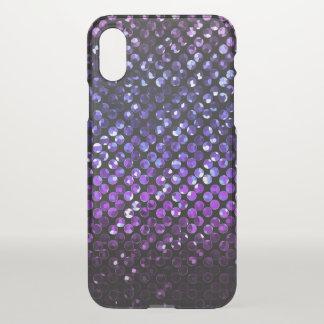 Capa Para iPhone X caso Bling de cristal roxo Strass do iPhone X