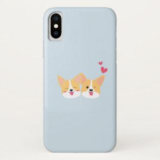 Capa Para iPhone X Caso bonito de Iphone X do cão do Corgi