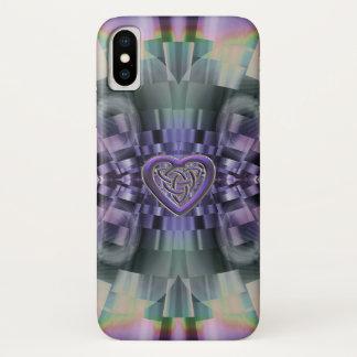 Capa Para iPhone X Caso celta do iPhone X do nó do coração do Fractal