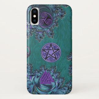 Capa Para iPhone X Caso celta do iPhone X dos símbolos do Pentagram