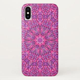 Capa Para iPhone X Caso cor-de-rosa do iPhone X do roxo de n mal lá