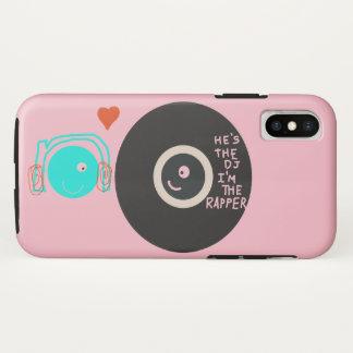 Capa Para iPhone X Caso da pilha da plataforma giratória dos amores