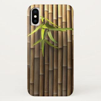 Capa Para iPhone X Caso de bambu do iPhone X da parede